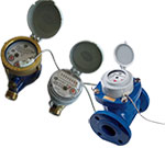 Water meters with pulse emitter